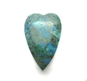 Anhaenger-Edelsteine-Herz-Natur-Chrysokoll-gebohrt-glatt-gruen-blau-40x26x17mm
