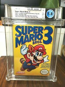 🔥Super Mario Bros. 3 Nintendo NES WATA 7.5 CIB Graded Video Game (1990)🔥