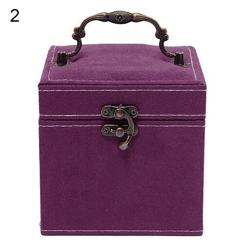 LN/_ CN/_ Luxury 3 Layers Velvet Jewelry Necklace Bracelet Storage Box Case Orga