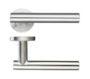 Straight T Bar Lever On Rose Internal Door Handles Sets Of 1-20 Stainless Steel