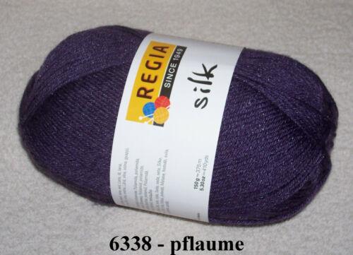 6-fach Sockenwolle mit Seide uni 150 gr REGIA SILK 6-fädig 9,80€//100gr