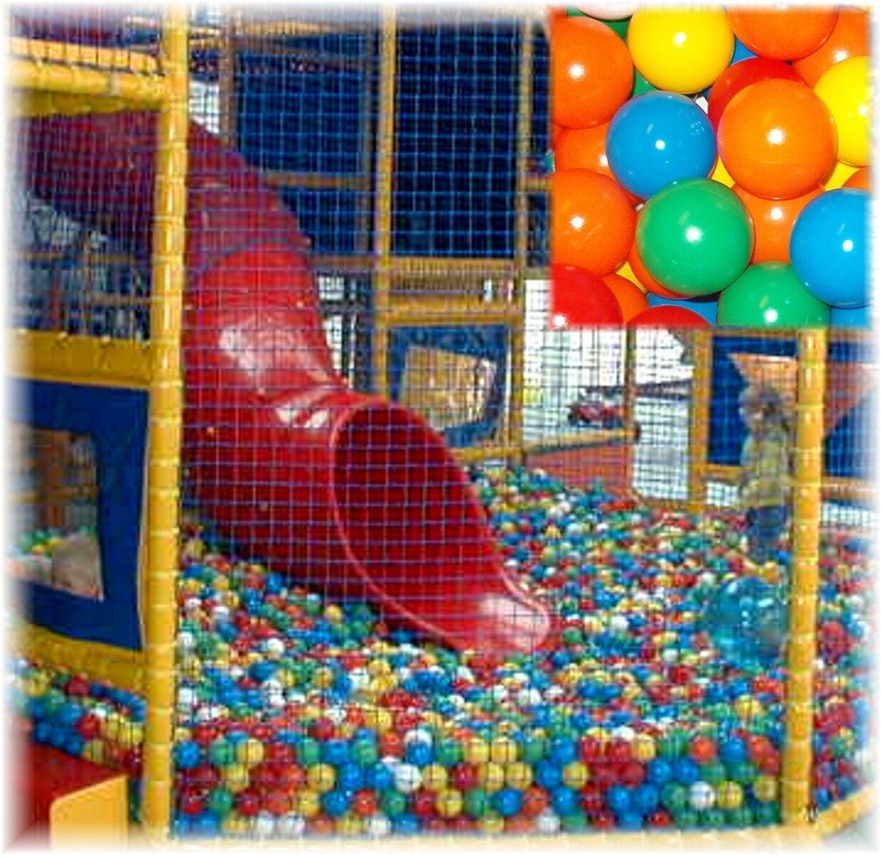 500 Bälle für Bällebad 75 mm mm mm Therapiebälle Spielbälle Euromatic bunt Ballspaß a9d587
