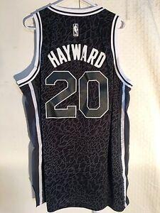 promo code 1c335 cbb8d Details about Adidas Swingman NBA Jersey Utah Jazz Gordon Hayward Black Lim  Edit sz XL