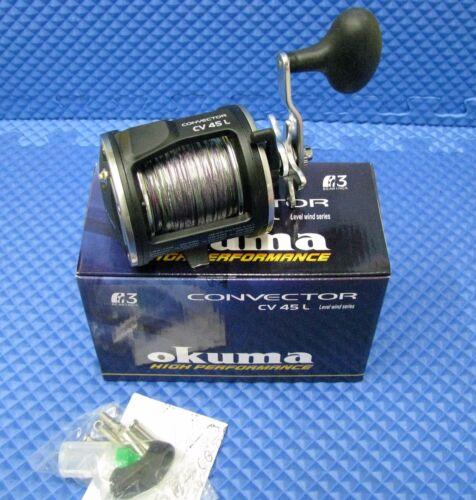 OKUMA CONVECTOR CV 45L 3BB Trolling Reel with 10 colors 27lb Lead Core Line
