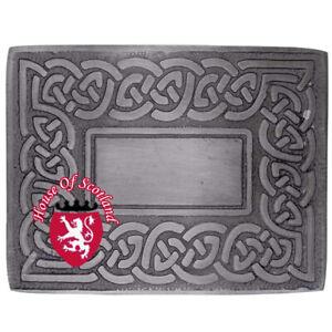 100% De Qualité Hs Men's Scottish Kilt Boucle De Ceinture Celtic Knot Swirl Silver Antique Highland-afficher Le Titre D'origine