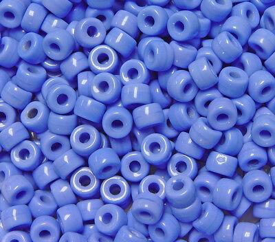 Dk Turquoise Czech Glass 9x6mm Crow Pony Beads Preciosa 100pc