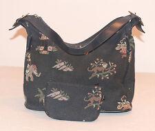 ASIAN ORIENTAL DESIGN PRINT 12X10X5 SHOULDER HAND BAG