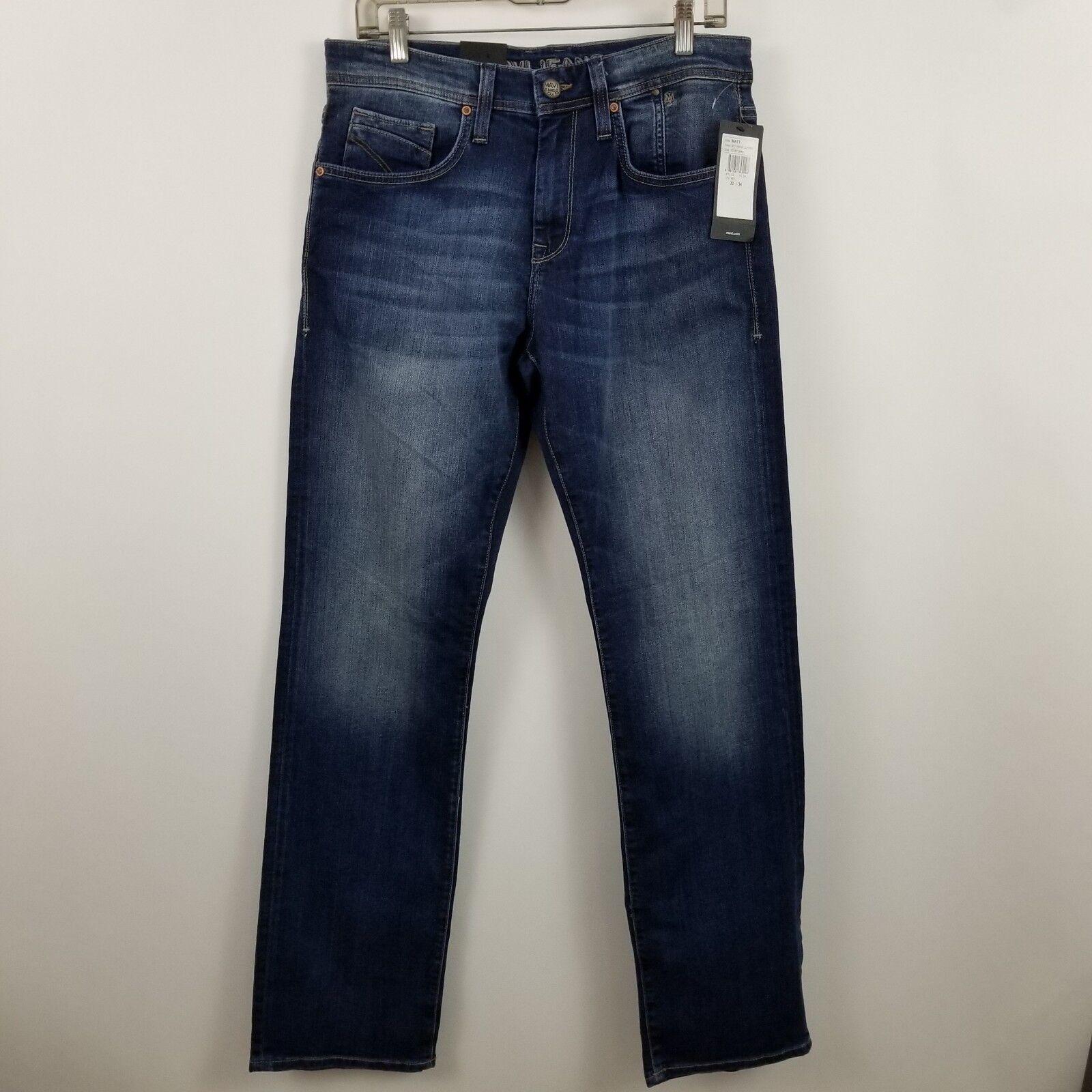 6bf42aa6 Mavi Matt Relaxed Straight Leg Mens Dark bluee Jeans Size 30 x 34 NWT Wash  nwvysu4491-Jeans. Menu. BLOOMINGDALE'S Men's ...