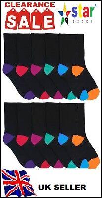 12 Pairs Ladies Plain Trainer Socks Boot Ankle Footwear White Uk Size 5-7 MZN