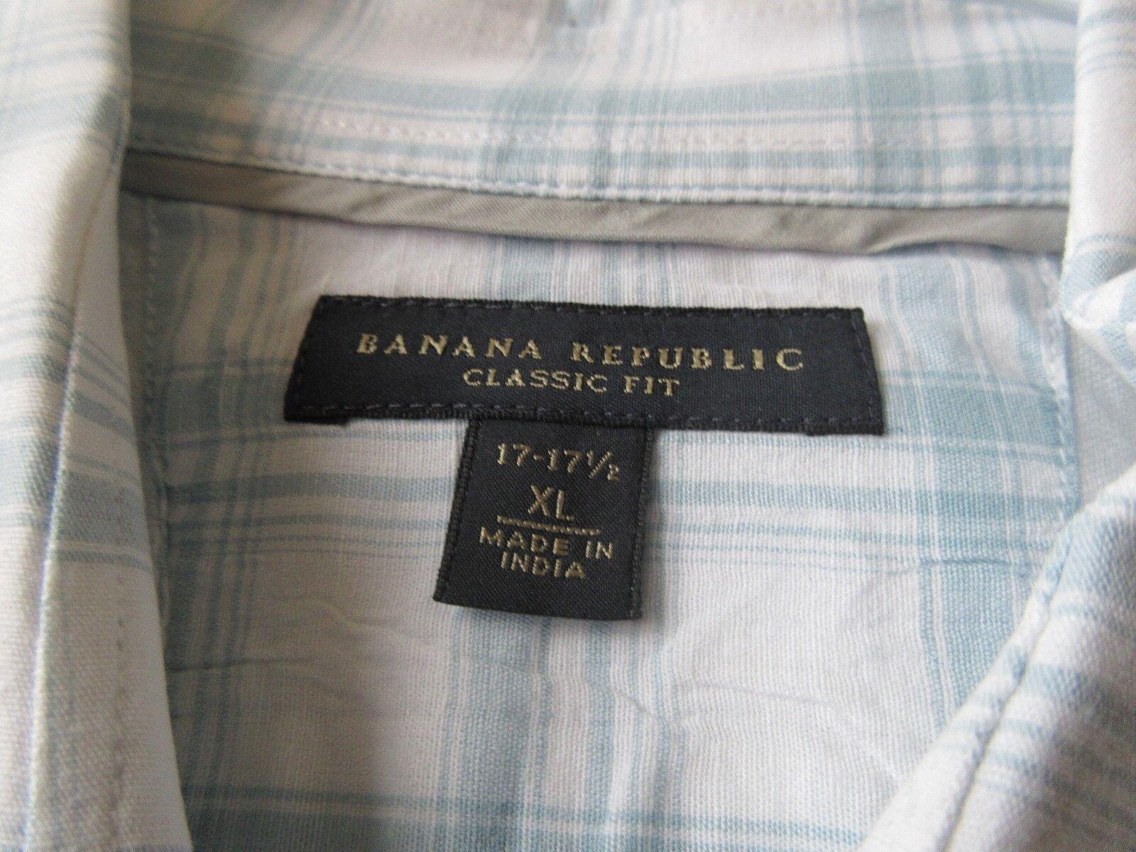 Banana Republic , X-Large, 17-17 1/2 , Men's Long Sleev