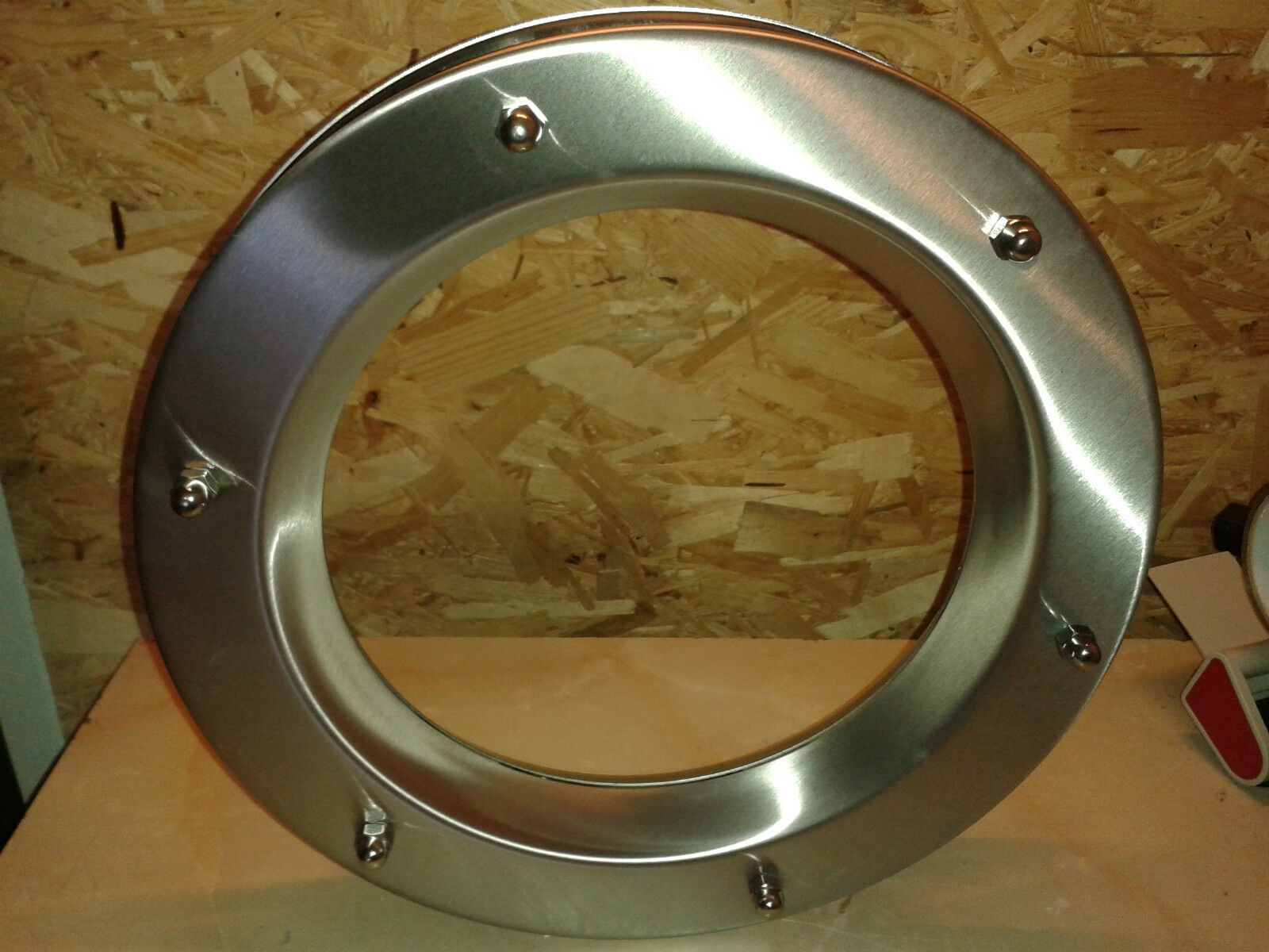 STAINLESS STEEL PORTHOLE VISION PANELS FOR DOORS phi 350 mm.Beautiful. New.