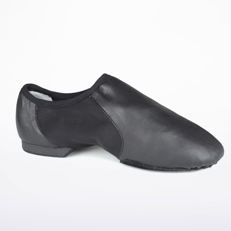 Black Dance depot flex slip on split sole jazz shoes - Various sizes