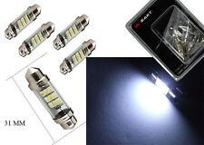 "2 x 31mm(1.25"") Xenon White Dome Tube Festoon Light LED Bulbs DE3175 DE3022"