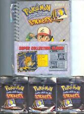 POKEMON SERIES 1 SUPER COLLECTION ALBUM + 40 STICKER PACKS ARTBOX NINTENDO NEW!