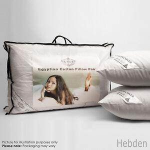 Paquet-de-2-4-ou-8-luxe-coton-egyptien-Lit-Oreillers-qualite-Hotel