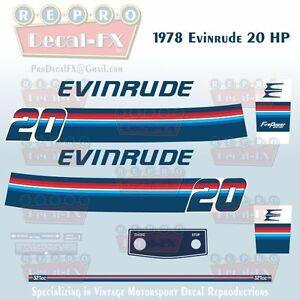 1987-88 Evinrude 8 HP 2 Stroke Outboard Reproduction 11 Piece Marine Vinyl Decal