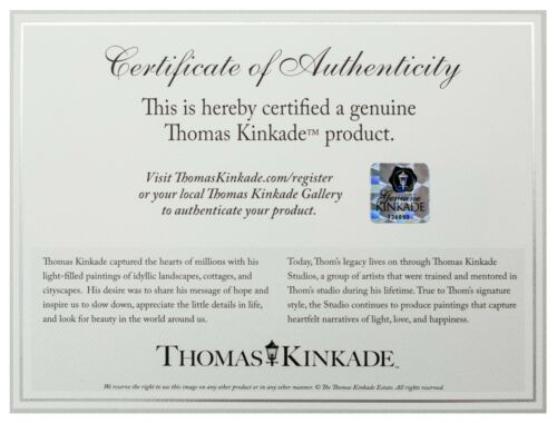 Thomas Kinkade Holiday Collection Choice of 4 10x14 Gallery Wrapped Canvas 2