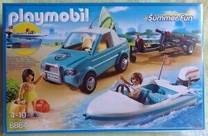 PLAYMOBIL-6864-CITY-LIFE-la-voiture-remorque-hors-bord-surf-plage