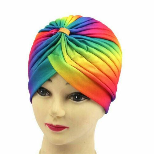 India Muslim Ladies Cancer Hat  Cap Hair Loss Head  Turban Scarf Head Wrap