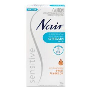 Nair Sensitive Precision Facial Hair Remover Cream 20g Moisturising Almond Oil Ebay