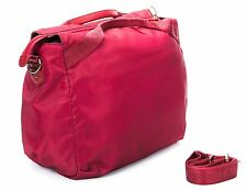 Borsa spalla tracolla donna Media Bag Borbonese jet op pelle Rossa