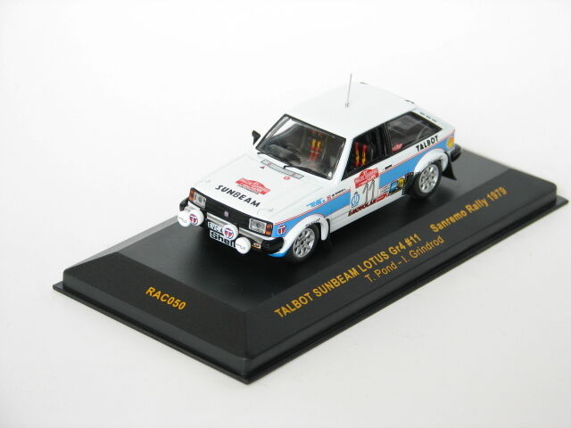 Sunbeam Lotus g  11 Pond san san san remo rally 1979 rac050 Ixo 1 43 New in a box  45347d