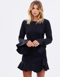 MAURIE + EVE | Womens Black Stay Awake Dress RRP$189 [ Size AU 10 or US 6  ]