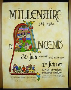 Travailleur Barbara De Monchy & Philippe Petit 1984 Millénaire D'ancenis Affiche O Signée