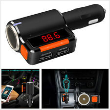 LCD Naranja Inalámbrico Bluetooth Manos Libres Transmisor FM reproductor de música BC09 Cargador