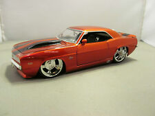 JADA 1/24 BIGTIME MUSCLE CANDY RED 1969 CHEVY CAMARO SS VERY NICE NO BOX