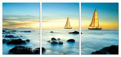41'' FRAMED Hot Modern Contemporary Canvas Wall Art Print Painting Sailboats