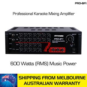 ARTSOUND KARAOKE MIXING AMPLIFIER PRO-8F1 - 600 WATTS (RMS)