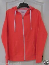 Tek Gear® Scuba Neck Full-Zip Fleece Hoodie Coral Women's Sz M NWT MSRP$32