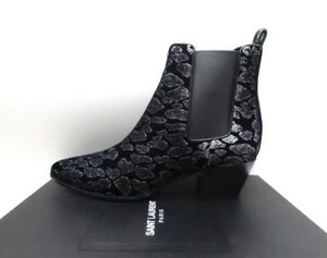 880a821fe7ea7 Image is loading Yves-Saint-Laurent-Rock-40-Chelsea-Ankle-Boots-