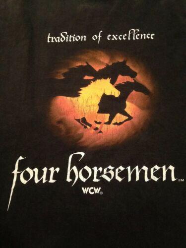 VTG RARE WCW NWO Four Horsemen Wrestling T Shirt L
