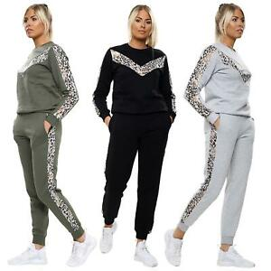 New Women/'s Ladies Sweat Pantalon De Survêtement Plain Lounge Wear Survêtement Lounge Wear