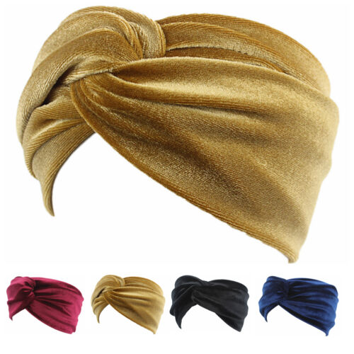 Damen Haarband Samt Stirnband Twist Turban Hairband Sport Haarschmuck Haarreif