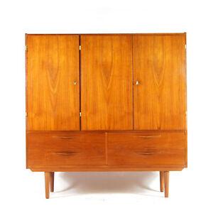 Retro Vintage Danish Teak Sideboard High Book Drinks Cabinet Dresser 60s 70s