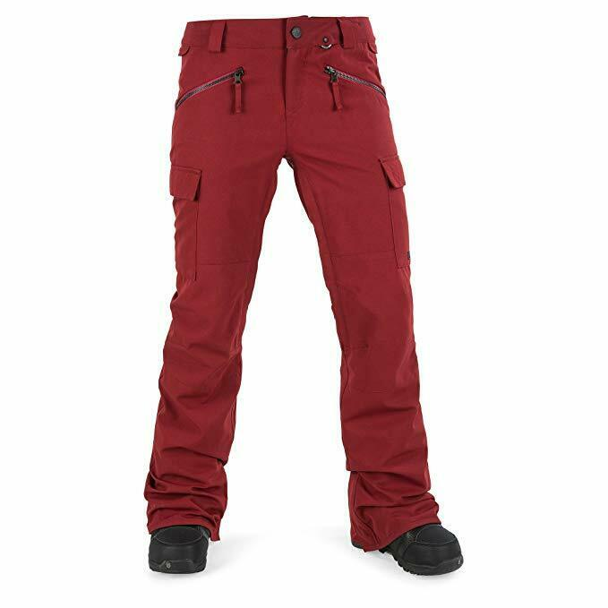 Volcom Junior's Robson 2 Layer Shell Snow Pant Deep Red XL