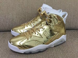 5e7fae53122b17 2016 Air Jordan 6 VI Retro Pinnacle SZ 7 Metallic Gold Premium ...