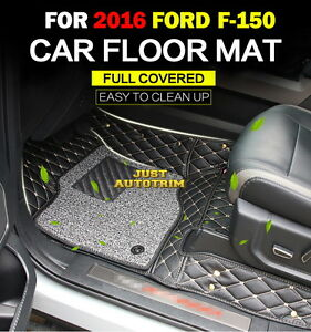 Full Cover 3d Luxury Leather Floor Mats For 15 17 Ford F150