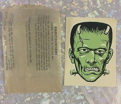 Vintage Monster Frankenstein Baxter Lane Co. Window Decal in original package