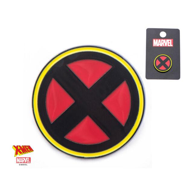 OFFICIAL MARVEL COMICS - X-MEN SYMBOL ROUND METAL ENAMEL PIN BADGE (BRAND NEW)