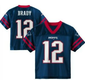 Details about New England Patriots NFL Toddler Boys Tom Brady #12 Player T-Shirts/Jerseys: 3T