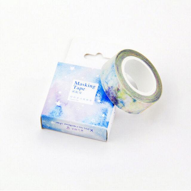 10m DIY Washi Tape Adhesive Tape DIY Scrapbooking Sticker Label Masking Tape ST