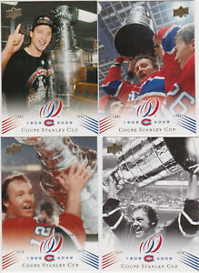 2008-09-UD-Montreal-Canadiens-Centenial-Base-Card-You-Pick-a-Player-lot