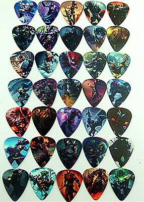 10pcs 0.71mm Musical Accessories two sides League of legends Guitar Picks