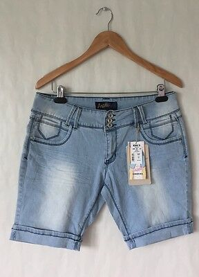 Angels Light Washed Bermuda Jean Shorts Size 17 NWT
