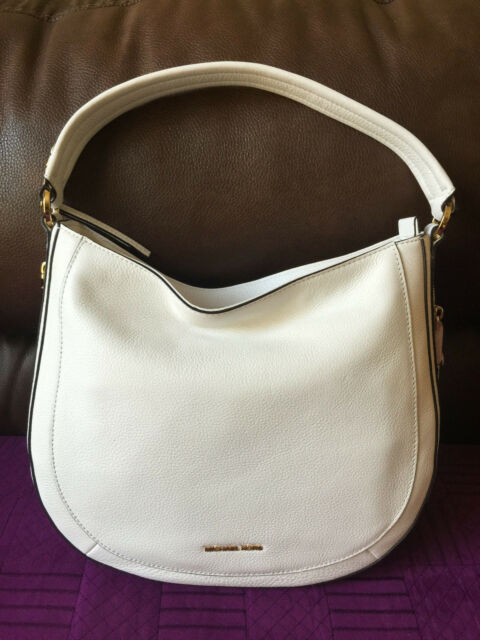 NWT MICHAEL Michael Kors Julia Md Leather Convertible Shoulder Bag Optic  White de28316573