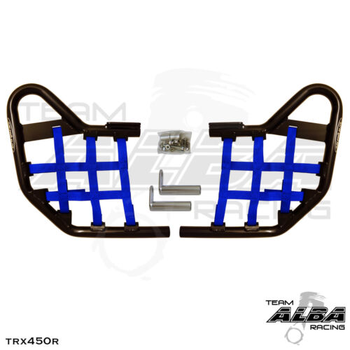 TRX 450R TRX450R Honda   Nerf Bars  Alba Racing   Black bar Blue nets  218 T1 BL